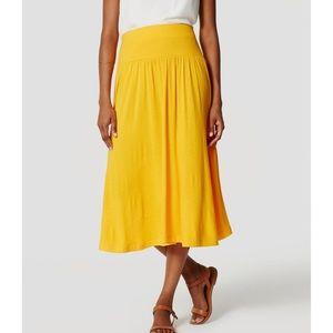 NWT LOFT Yellow Knit Midi Skirt